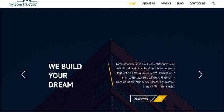 construction-bootstrap-landing-page