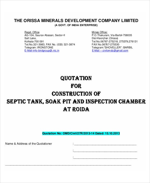 Company Quotation Templates  Word Pdf  Free  Premium Templates