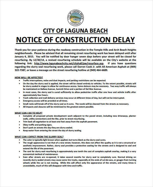 construction delay
