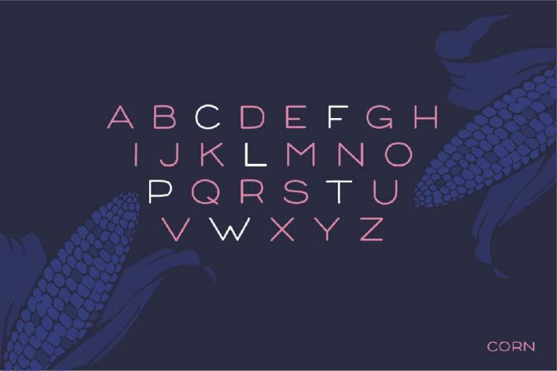 corn-font