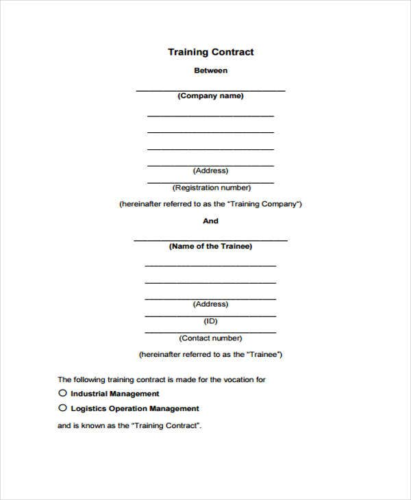exercise contract template - 38 contract templates in pdf free premium templates