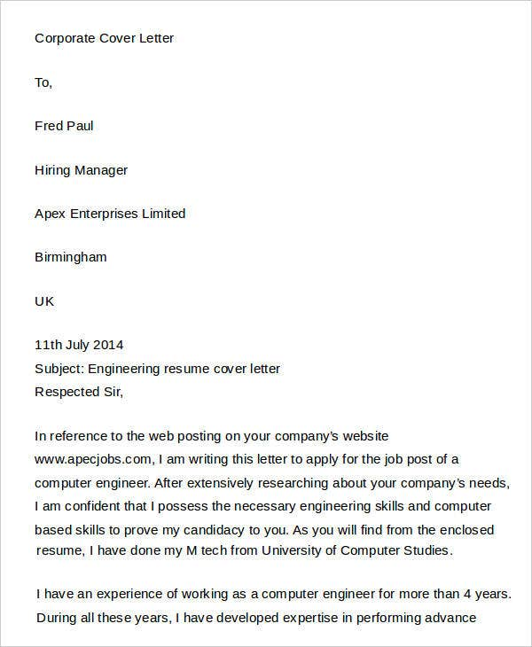 7 Legal Cover Letters Free Sample Example Format Download Free