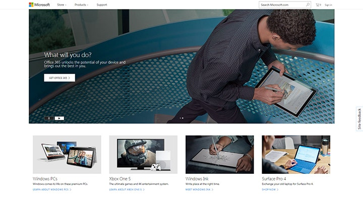 corporate website microsoft company home