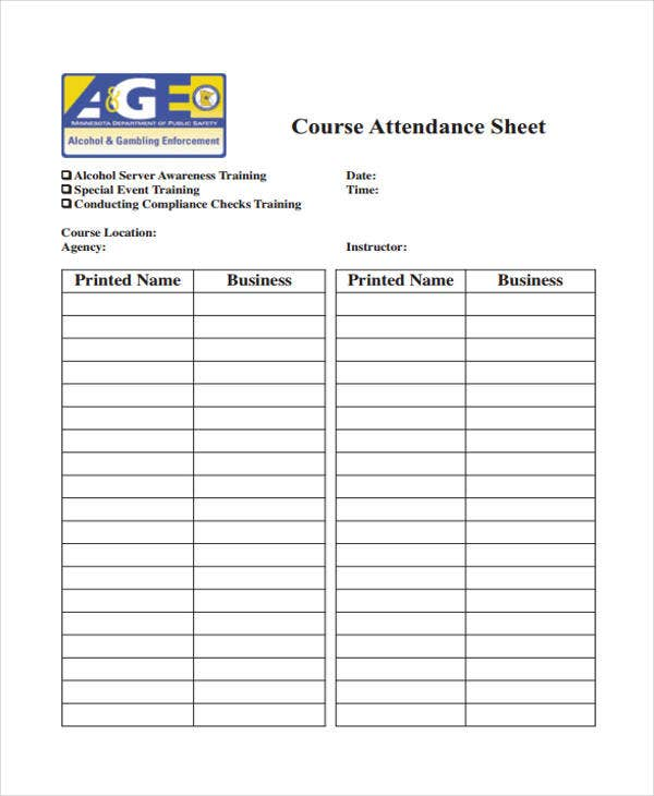 Training Sheet Templates  Free Sample Example Format Downlaod