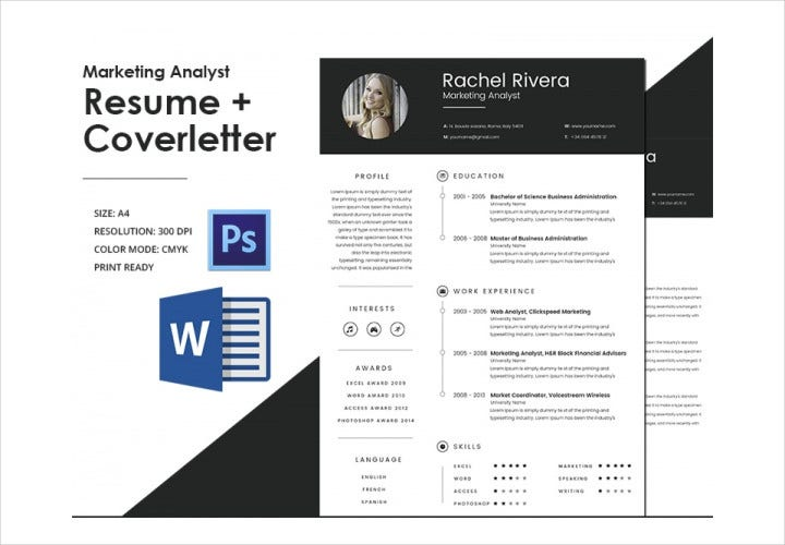 Creative Marketing Analyst Resume Template
