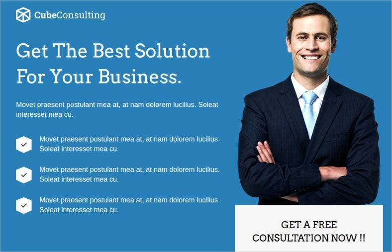 Best Consulting Landing Page Templates Cube Consulting