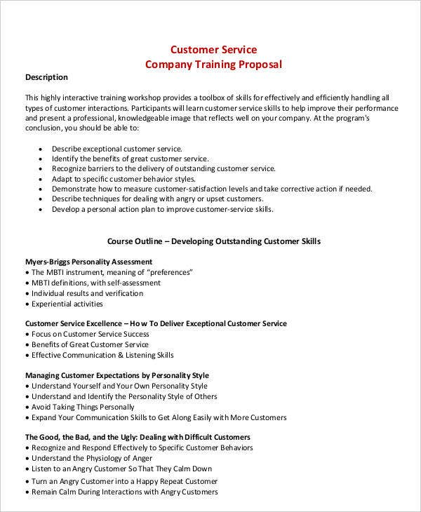 4  training business proposal templates