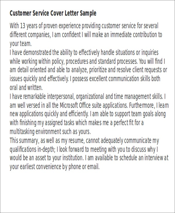 Short Cover Letter Examples
