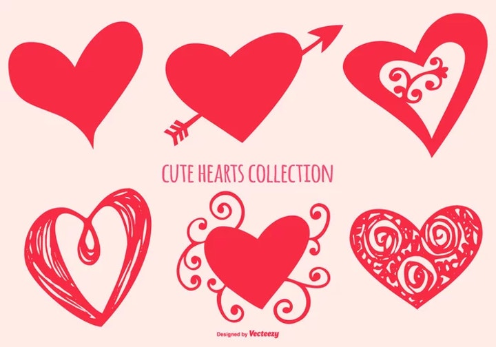 cute heart shapes