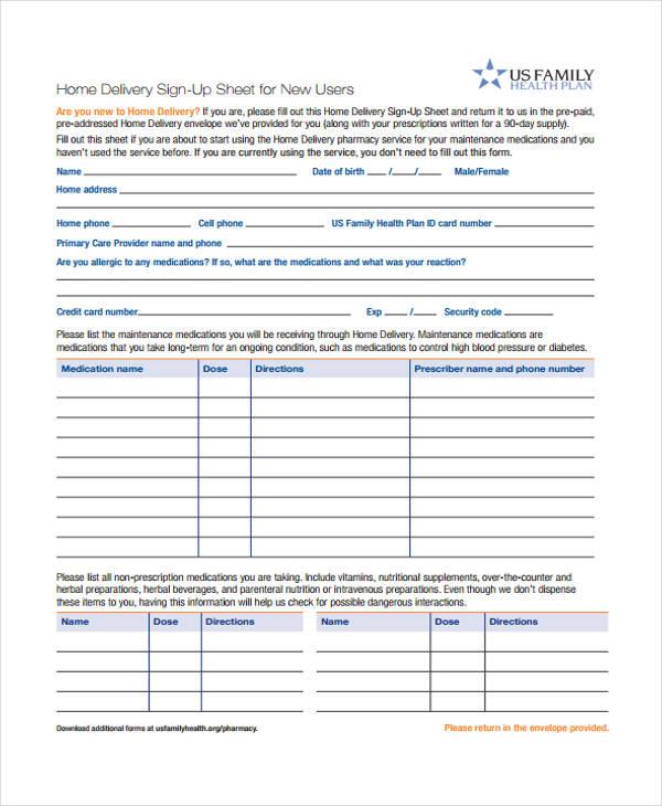 37 free sheet templates free premium templates delivery sheet template delivery sign pronofoot35fo Gallery