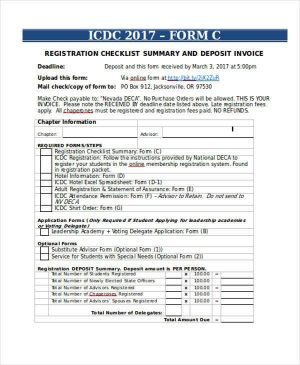 Deposit Invoice Templates   Free Word Pdf Format Download  Free