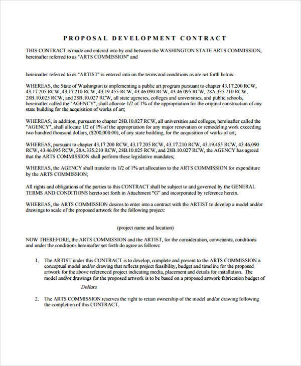 development contract1