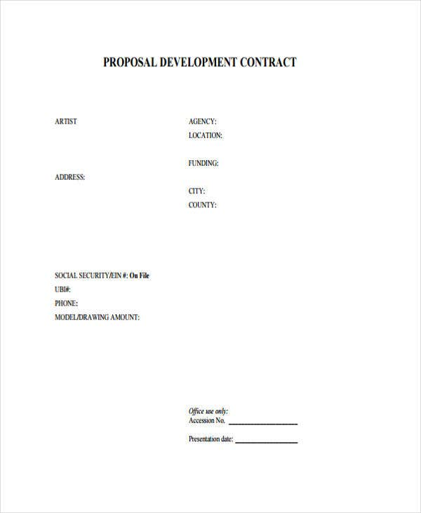 9 contract proposal templates free sample example format