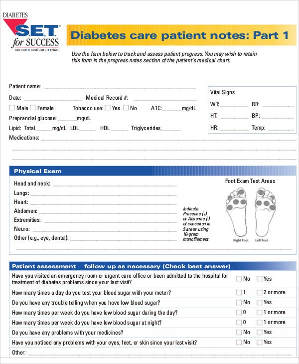 diabetes care note