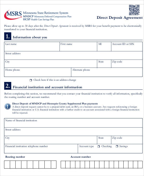 Deposit Agreement Templates   Free Sample Example Format
