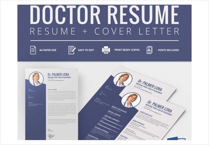 Doctor Resume + Cover Letter Template
