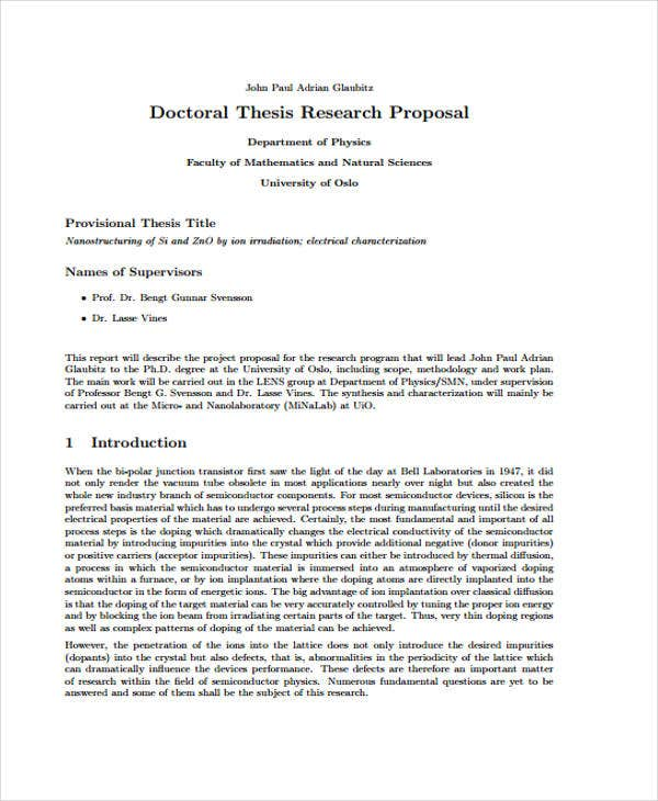 example research proposal in mathematics pdf