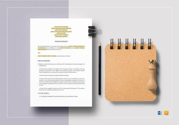 donation agreement template1