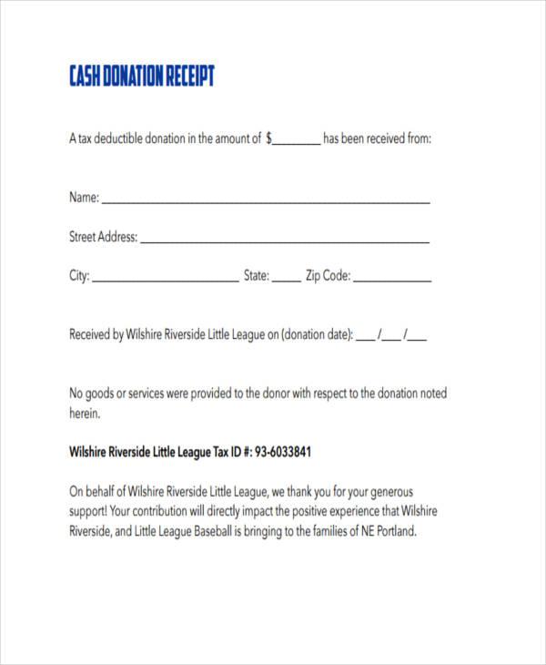 donation cash