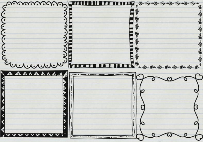 doodle frame brushes 788x552