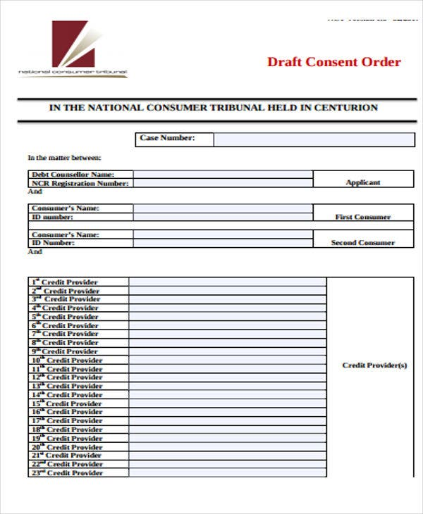 draft consent order template