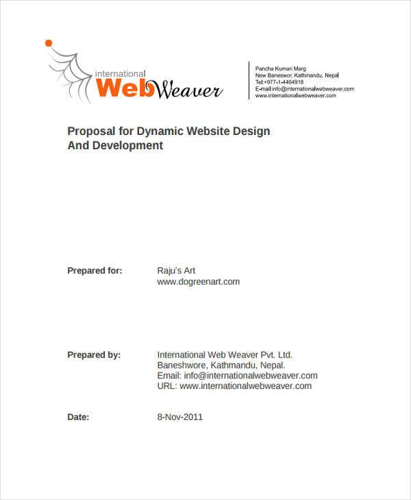 Website Design Proposal Templates  Free Samples Examples Format