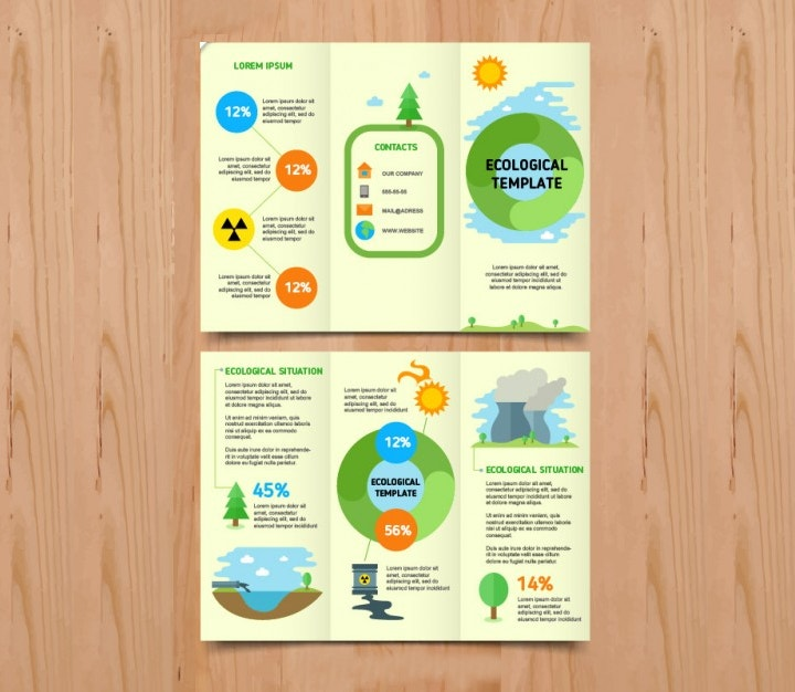 ecological infographic brochure