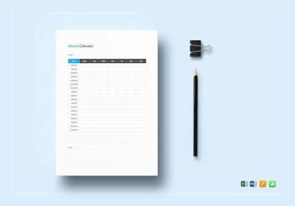 editable-hourly-calendar-template