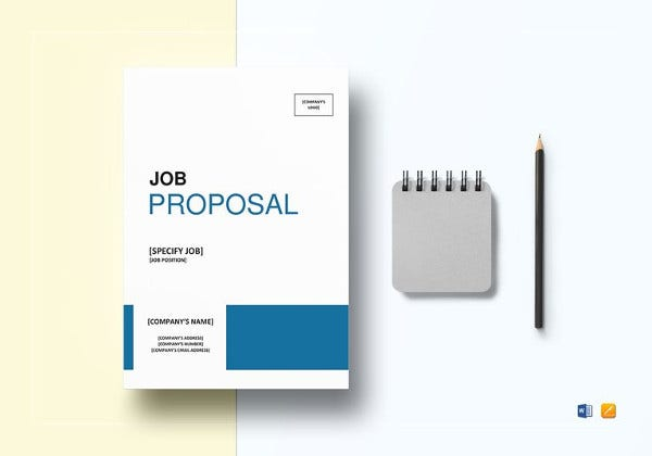editable job proposal template