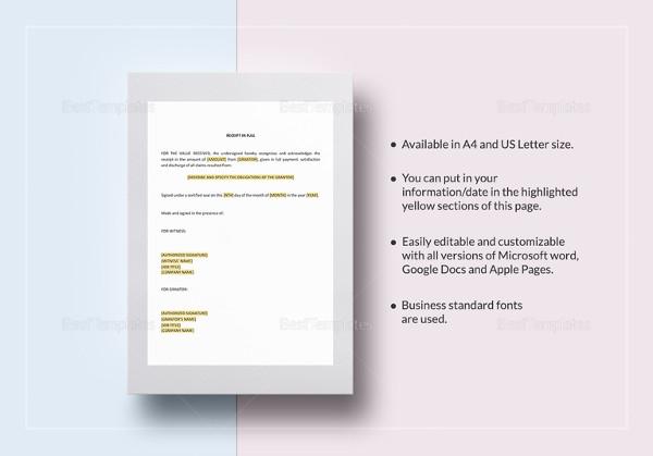 editable receipt template