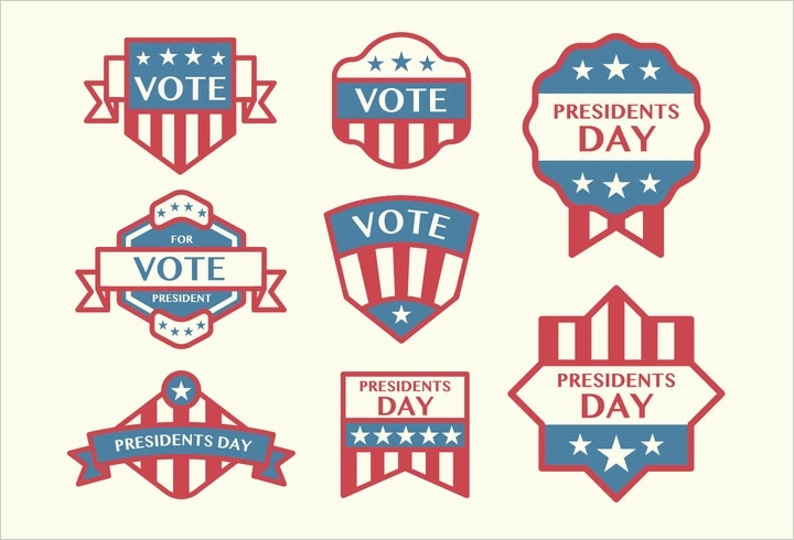election-badge-vectors