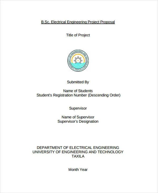 electrical engineering project proposal