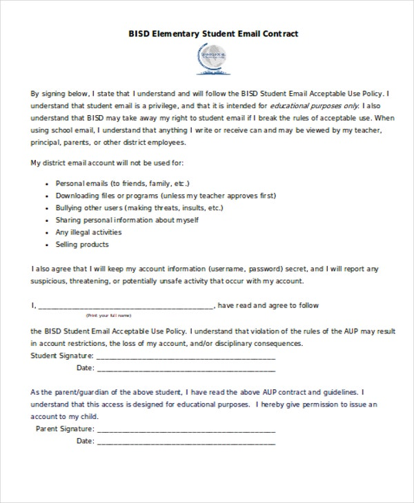 11 Student Contract Templates Word Pdf Free Premium Templates