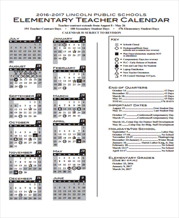 Teacher Calendar Templates Best Images Of Printable Teacher