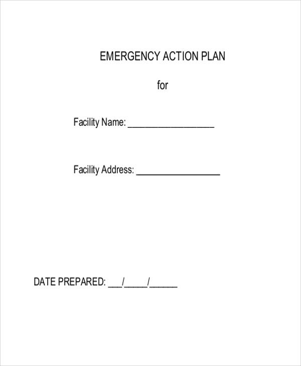 emergency action template