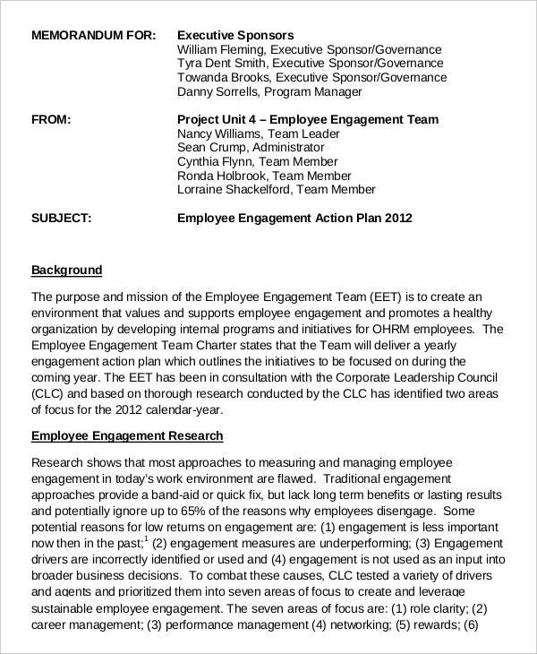 employee engagement team template
