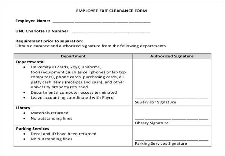 Employee Exit Form Template. Employee Application Form 19 Best