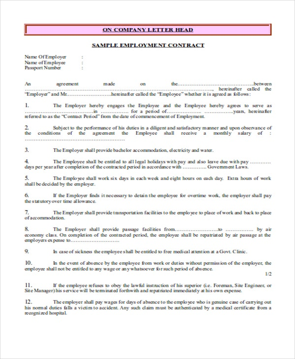 employment contract1