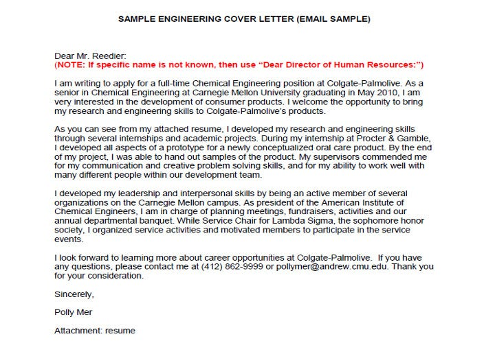 engineering application cover letter