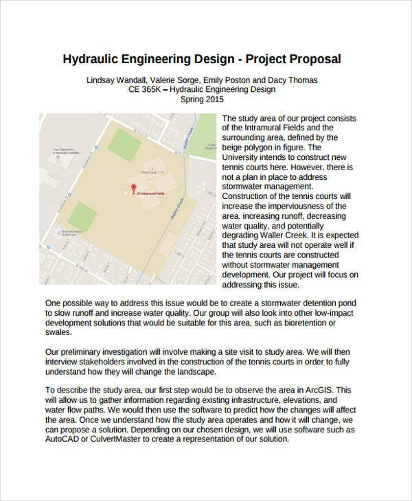 how to write an engineering project proposal