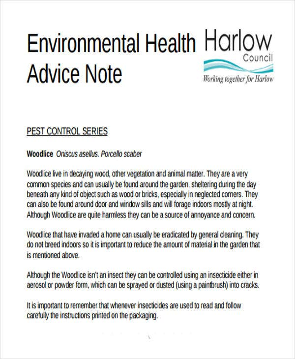 Advice Note Templates Free Sample Example Format Download Briefing