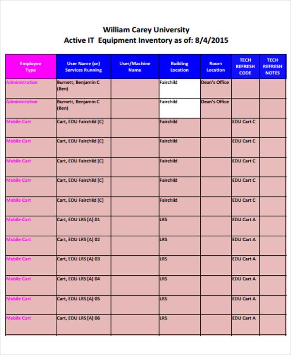 equipment inventory1