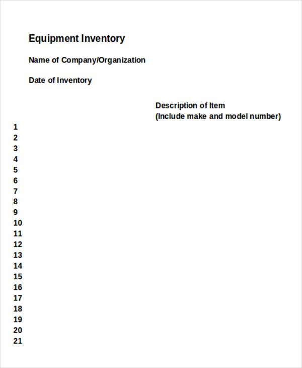 equipment inventory3