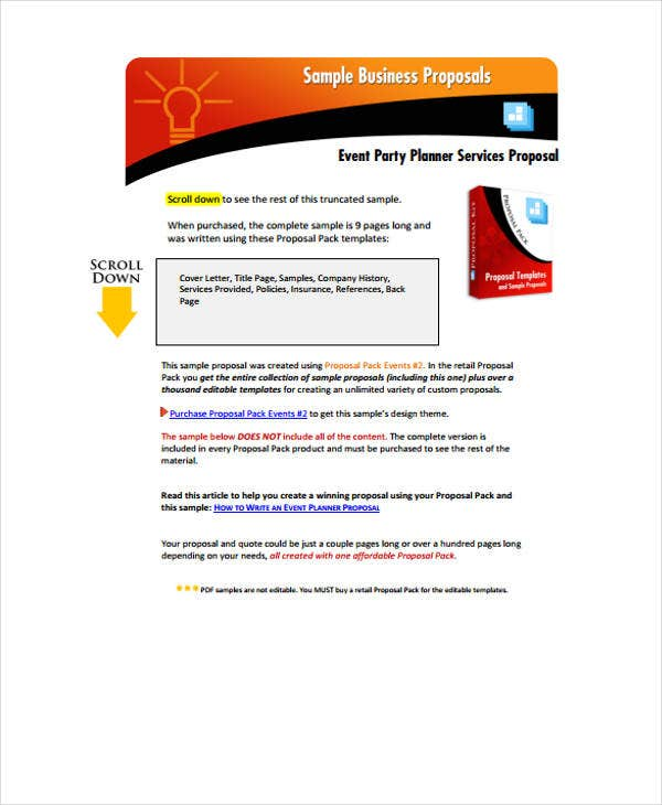 Corporate Event Proposal Templates 7 Free Word Pdf Format