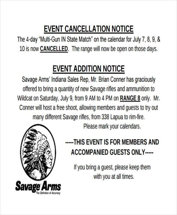 event cancellation