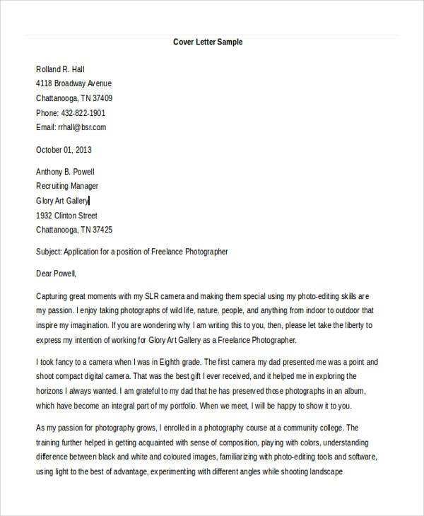 cover letter for photography photographer cover letters 10 free word pdf format 21085 | Event Cover Letter1