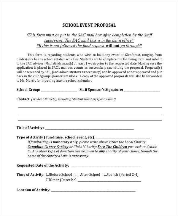 School Proposal Templates 9 Free Pdf Format Download Free
