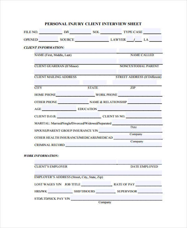 interview templates for employers - 9 interview sheet templates free sample example format