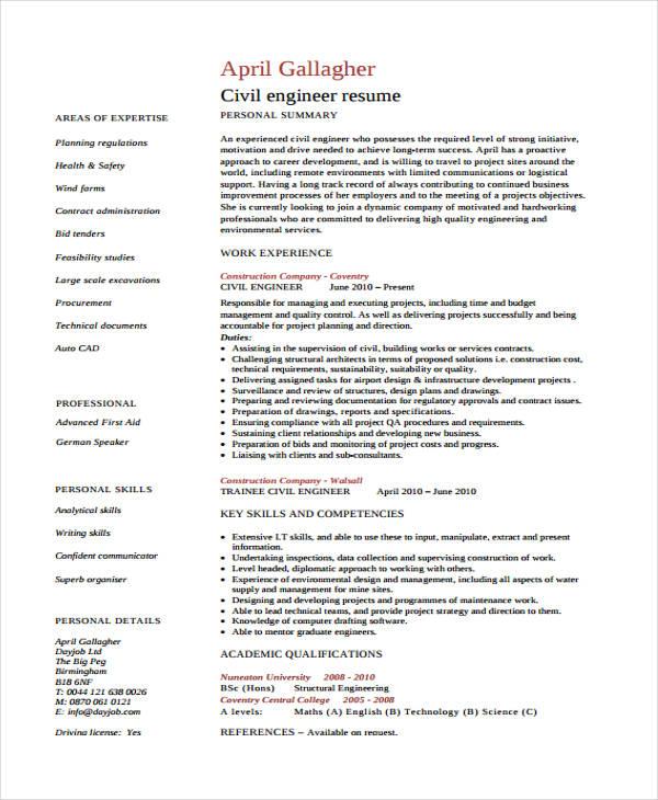 engineer curriculum vitae templates 9 free word pdf format