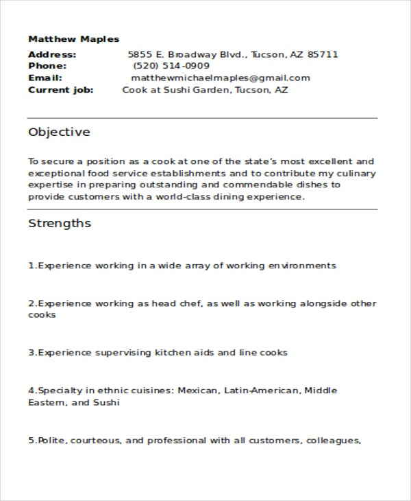 experienced resume1